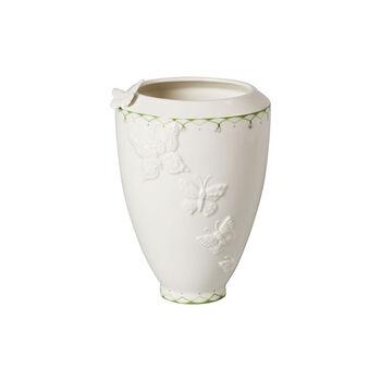 Colourful Spring wysoki wazon, biały/zielony