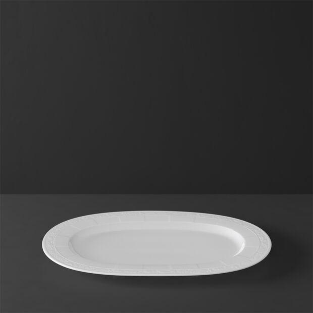 White Pearl półmisek owalny 41cm, , large