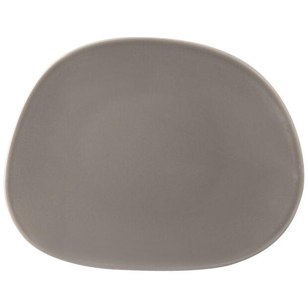 Organic Taupe talerz śniadaniowy, brązowoszary, 21 x 17 x 2 cm, , large