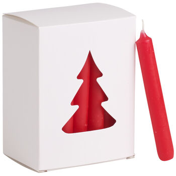 Essential Candles Świeczki czerwone 24el. 8x10,5x5,5cm