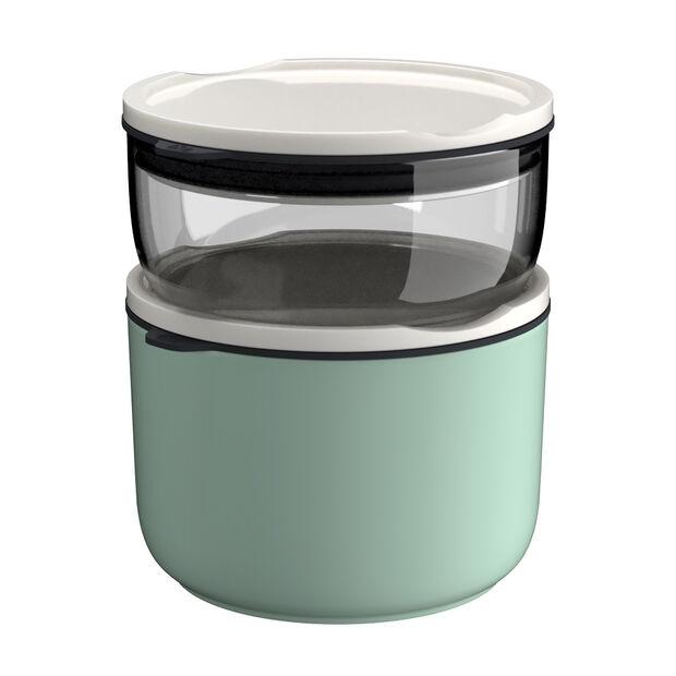 ToGo&ToStay zestaw pojemników na lunch, 2-częściowy, szklany, biały/miętowy, , large