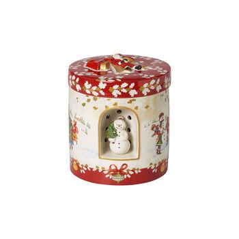 Christmas Toy's duży okrągły prezent, czerwony/kolorowy, 17 x 17 x 20 cm