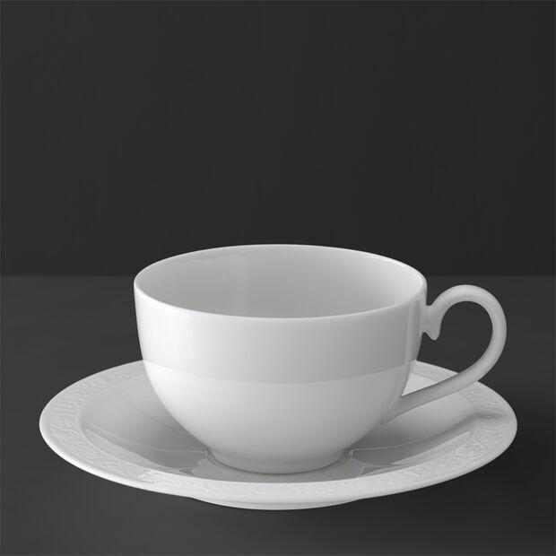 White Pearl Filiżanka śniadaniowa ze spodkiem 2 szt., , large