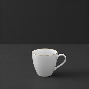 Anmut Gold filiżanka do mokki i espresso, 100 ml, biała/złota