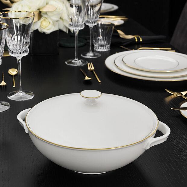 Anmut Gold waza do zupy, biała/złota, , large