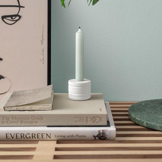 it's my home świecznik Leaf, 6x5 cm, biały, , large