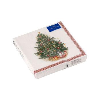 Winter Specials serwetka koktajlowa choinka, zielona/kolorowa, 20 sztuk, 25 x 25 cm