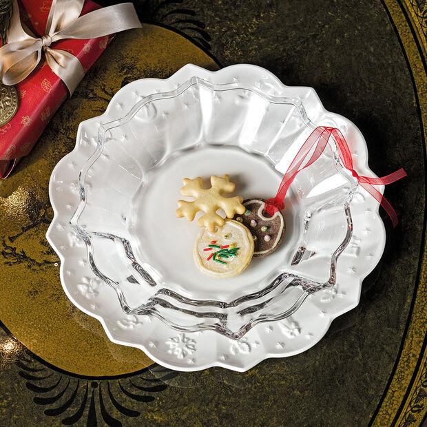 Christmas Glass Accessories miska, przezroczysta, 25 cm, 850 ml, , large