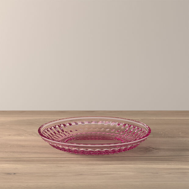 Boston Coloured talerz do sałatki i deseru, różowy, 21 cm, , large