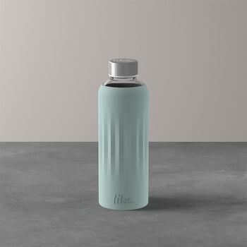 ToGo&ToStay szklana butelka, 0,5l, z silikonową osłonką, miętowa