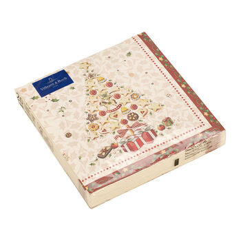 Winter Specials Bakery serwetka lunchowa choinka, biała/kolorowa, 20 sztuk, 33 x 33 cm