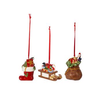 Nostalgic Ornaments zestaw ozdób prezenty, kolorowy, 3-częściowy, 6,3 cm
