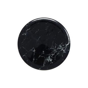 Marmory talerz śniadaniowy Black 21 x 21 x 1,5cm
