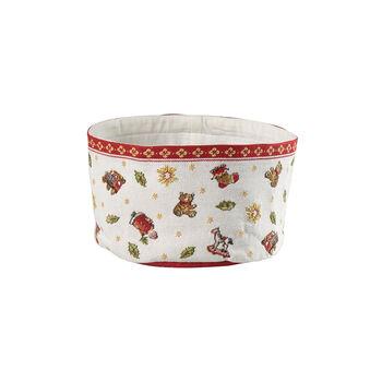Toy's Delight Gobelin koszyk na pieczywo, czerwony/kolorowy, 15 x 23 cm
