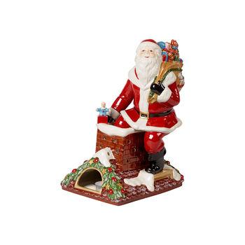 Christmas Toy's Memory św. Mikołaj na dachu, kolorowy, 23,5 x 17 x 32 cm