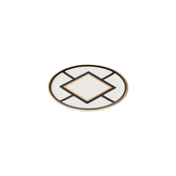 MetroChic podstawka, średnica 11 cm, biało-czarno-złota, , large