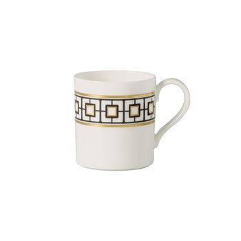 MetroChic filiżanka do kawy, 210 ml, biało-czarno-złota