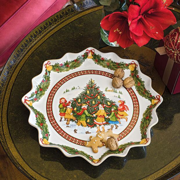 Toy's Fantasy głęboki talerz na wypieki, czerwony/kolorowy, 39 x 39 x 3,5 cm, , large