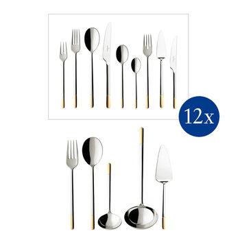 Ella teilvergoldet Cutlery set 113pcs lunch 49x34x18cm