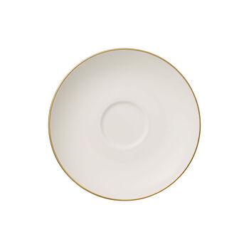 Anmut Gold spodek do filiżanki do herbaty, średnica 15 cm, biały/złoty