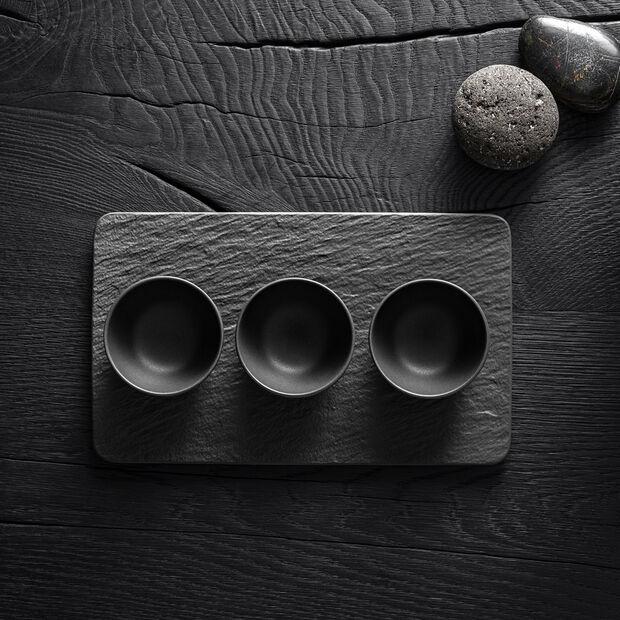 Manufacture Rock zestaw miseczek do dipów, czarny/szary, 8 x 8 x 4 cm, 4-częściowy, , large