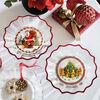 Christmas Glass Accessories miska taniec wokół choinki, przezroczysta/kolorowa, 25 cm, 850 ml, , large