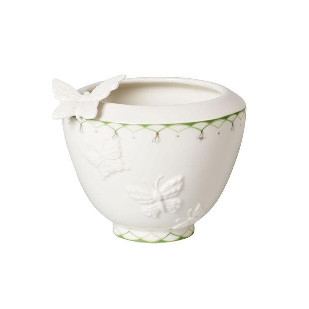 Colourful Spring mały wazon, biały/zielony, , large
