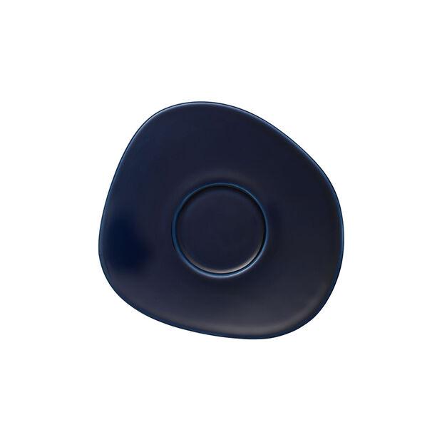 Organic Dark Blue spodek do filiżanki do kawy, ciemnoniebieski, 17,5 cm, , large