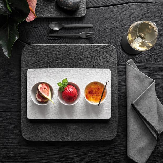 Manufacture Rock Blanc zestaw miseczek do dipów, biały, 4-częściowy, , large