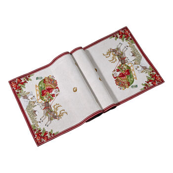 Toy's Fantasy Gobelin bieżnik sanie XL, czerwony/kolorowy, 49 x 143 cm