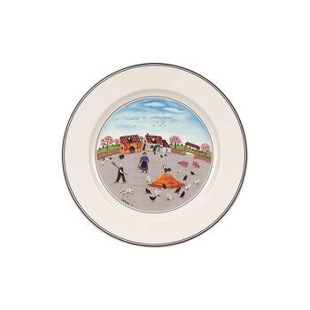 Design Naif talerz śniadaniowy podwórko dla kur
