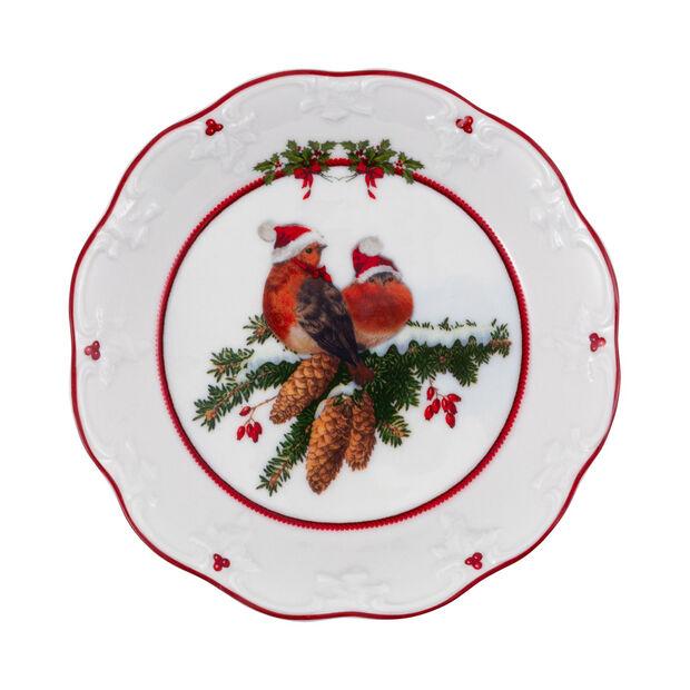 Toy's Fantasy mała miska ptaki, kolorowa/czerwona/biała, 17 x 17 x 3 cm, , large
