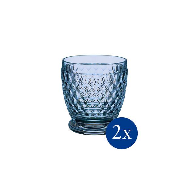 Boston coloured Szklanka blue , Set 2 pcs, , large