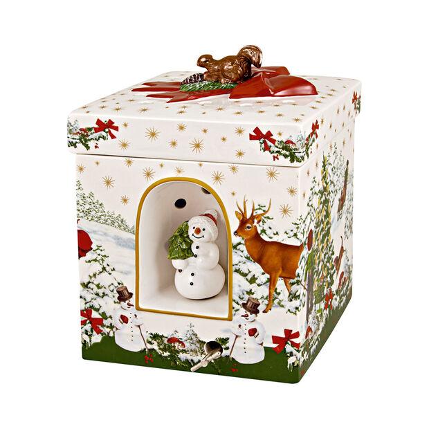 Christmas Toys duży kwadratowy prezent choinka, 16 x 16 x 21,5 cm, , large