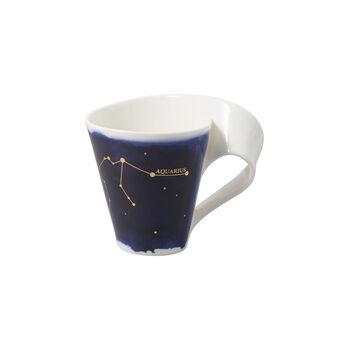 NewWave Stars kubek Wodnik, 300 ml, niebieski/biały