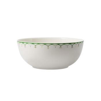 Colourful Spring mała miska do sałatek, 2,5 l, biały/zielony