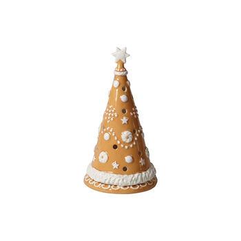 Winter Bakery Decoration duża choinka z piernika, brązowy/biały, 11 x 11 x 21 cm