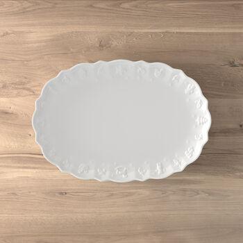 Toy's Delight Royal Classic owalny półmisek, biały, 42 x 29 x 4 cm