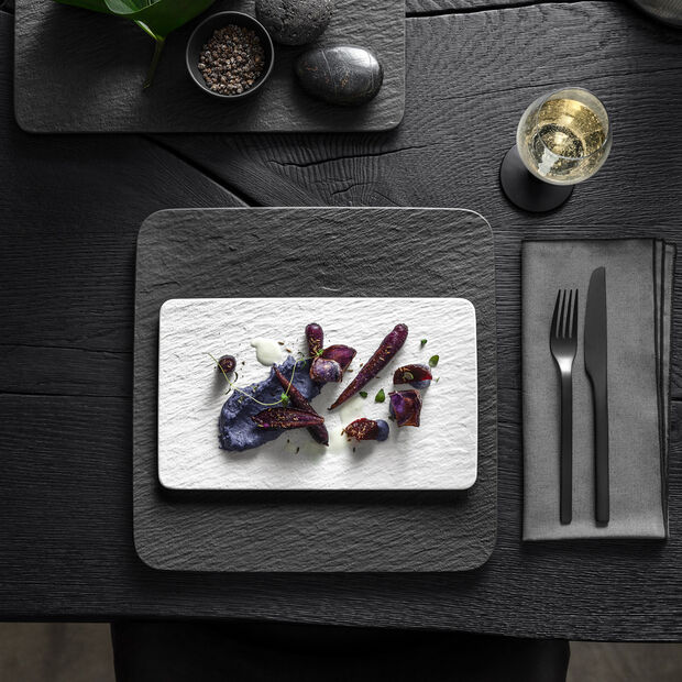 Manufacture Rock Blanc prostokątny talerz wielofunkcyjny, biały, 28 x 17 x 1 cm, , large