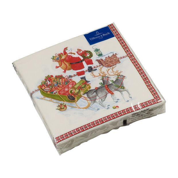 Winter Specials serwetka lunchowa św. Mikołaj, kolorowa, 20 sztuk, 33 x 33 cm, , large