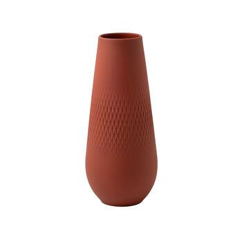 Manufacture Collier terre wysoki wazon, Carré, 11,5x11,5x26cm