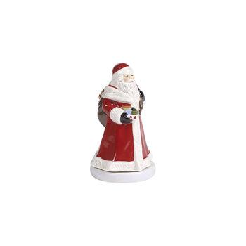 Nostalgic Melody św. Mikołaj obracający się, czerwony, 8 x 8 x 15 cm