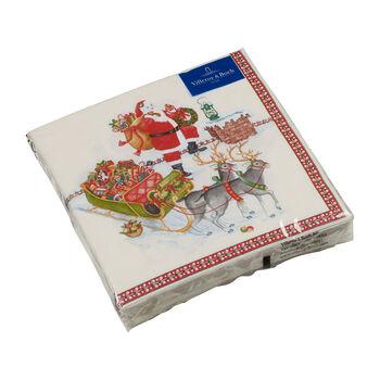 Winter Specials serwetka lunchowa św. Mikołaj, kolorowa, 20 sztuk, 33 x 33 cm