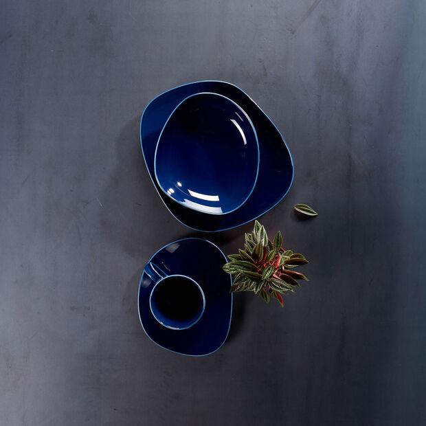 Organic Dark Blue głęboki talerz, ciemnoniebieski, 20 cm, , large