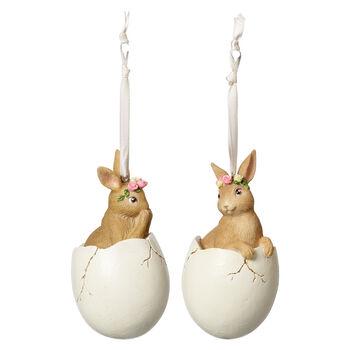 Spring Fantasy Accessories Zajaczki w jajku,zest.2 5,9x5,9x10,8cm