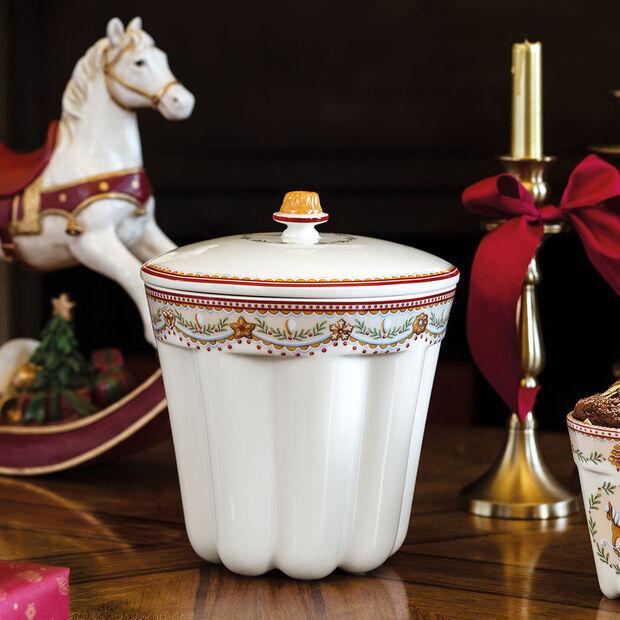 Winter Bakery Delight pojemnik do pieczenia babki w pierniki, czerwony/kolorowy, 19 x 19 x 20,5 cm, 2,3 l, , large