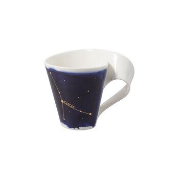 NewWave Stars kubek Rak, 300 ml, niebieski/biały