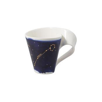NewWave Stars kubek Ryby, 300 ml, niebieski/biały