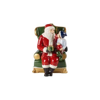 Christmas Toy's św. Mikołaj w fotelu, kolorowy, 10 x 10 x 15 cm