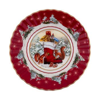Toy's Fantasy mała miska but, kolorowa/czerwona/biała, 16 x 16 x 3 cm